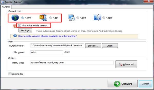 shortcut to size pdf flipbook