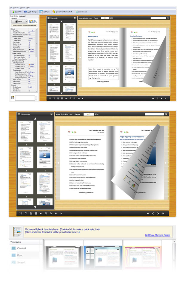 free flash flip book maker freeware to create page flip book from
