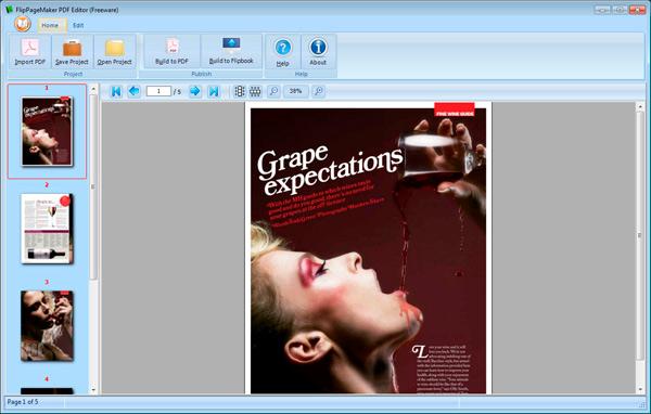 Freeware FlipPageMaker PDF Editor