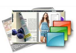 Blueberry theme of templates help quick building page-flipping books