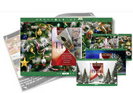 Christmas Tree theme of templates help quick building page-flipping books