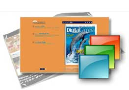 orange theme of templates help quick building page-flipping books