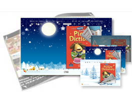 Snowy Christmas theme of templates help quick building page-flipping books