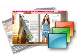 Sunbeach theme of templates help quick building page-flipping books