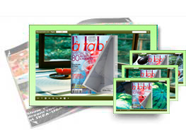 Watermelon theme of templates help quick building page-flipping books