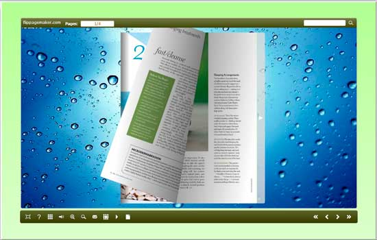 flipbook creator to convert PDF to page flip