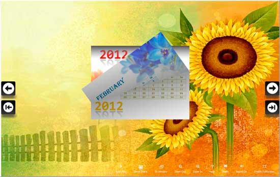 flash page flip calendar